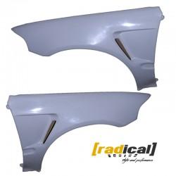 FRP vented front fenders wings for Honda Civic EG MK5 92-95