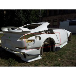 Nismo 380RS rear over-fenders +50mm for Nissan Z33 350z