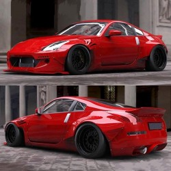 Rocket Bunny rear over fenders wheel arches for Nissan Z33 350z