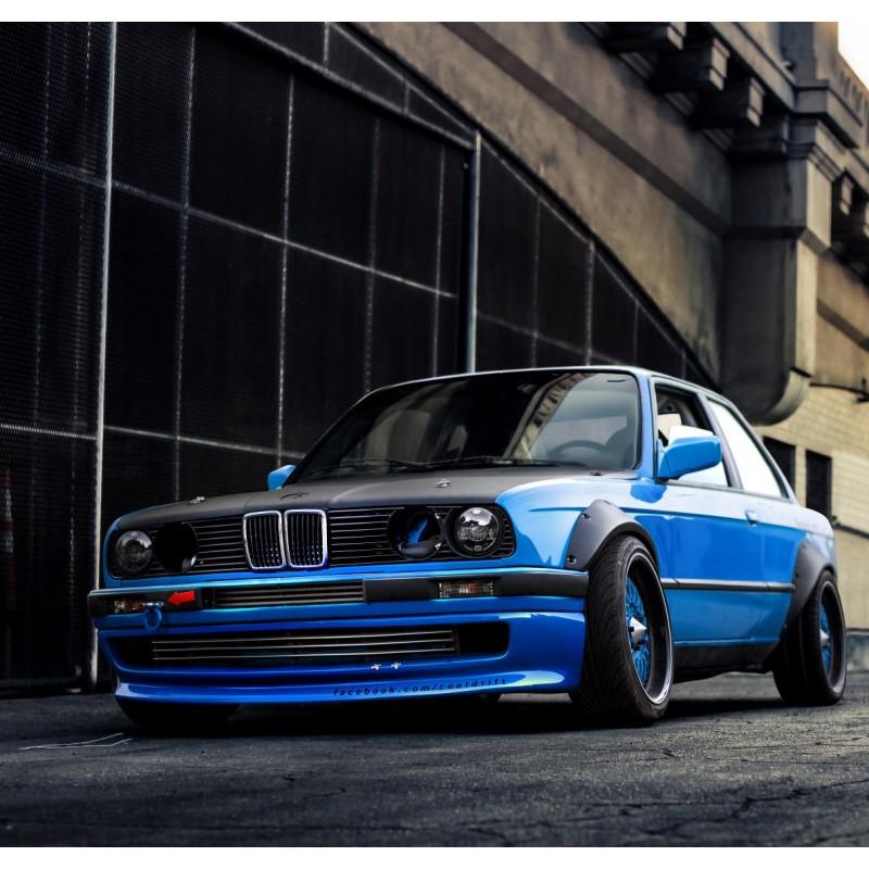 Front under-bumper spoiler for BMW E30 coupe sedan