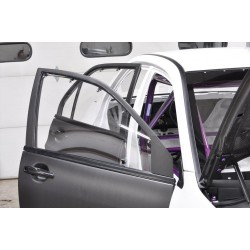 Pair of Lightweight Front Doors for Mitsubishi Evo 7/8/9 - 100% Carbon Fibre