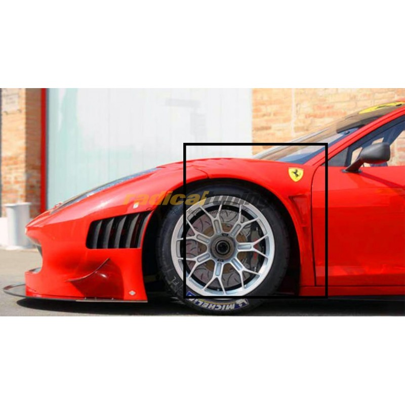 100% Carbon Fibre Wide GT3 Conversion Front Fenders for Ferrari 458 Italia