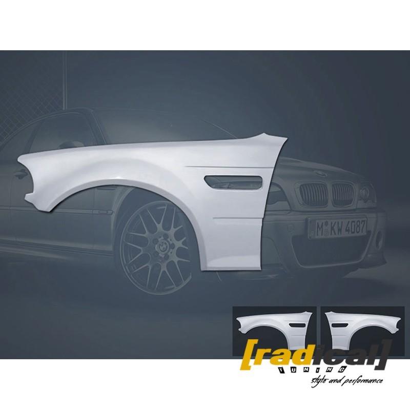 BMW E46 coupe / M3 - fiberglass M3 spec front fenders
