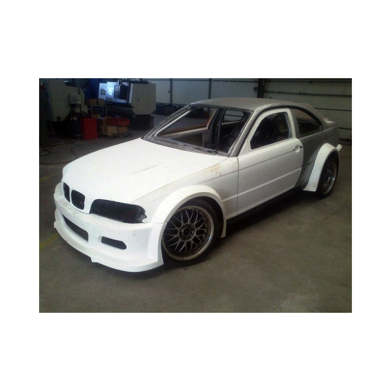 DTM GTR style wide body kit for BMW E46 coupe / M3