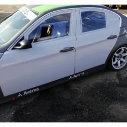 Set of 4 fiberglass doors with integrated Porsche door cards for BMW E90 sedan