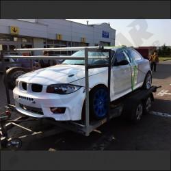 1M fiberglass front bumper replica for BMW E82 1 series