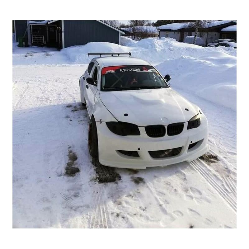 Wide body front bumper for FRP BMW E87 1 seiries
