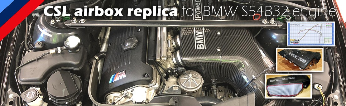 CSL replica airbox for BMW S54B32 engines